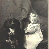 Image of Minnie Wilson (Schomber) and Dog Duke -