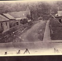 Image of Church Avenue, Preston, with church and parsonage -