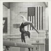 Image of Becky Russell on Balance Beam - Issaquah Press Collection