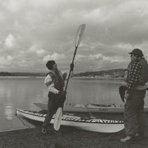 Image of Kayakers at a Lake - Issaquah Press Collection