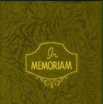 Image of In Memoriam Booklet for Rose Krall -