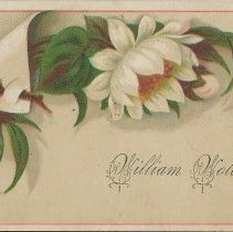 """Image of Calling card: """"William Wold""""  -"""