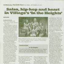 """Image of Newspaper Review of Village Theatre Production of """"In the Heights"""" -"""