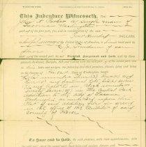 Image of Warranty Deed: John A. Parker sold to C.J. Trandum lots in Pierce County, March 1890 -