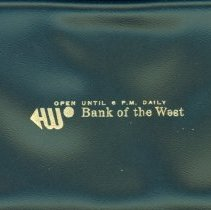 Image of Checkbook Cover from Bank of the West -
