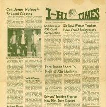 Image of I-Hi-Times, Vol I, No. 1, September 27, 1963 -