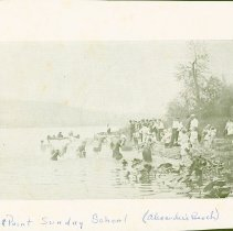 Image of High Point Sunday School at Alexander's Beach -