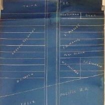 Image of Map of Main Street (Andrews) ca. 1934 -