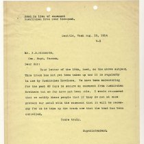 Image of Letter from Superintendent to I.B. Richards. August 19, 1914. - Jim Frederickson Collection
