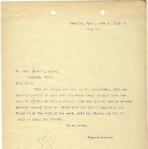 Image of Letter from Superintendent to George Hackett (Agent). June 2, 1911. - Jim Frederickson Collection