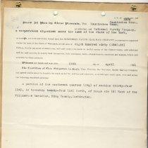 Image of Bond. April 24, 1911. - Jim Frederickson Collection