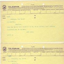Image of Telegram from John Legg to F.J. Martin. May 24, 1909.  2nd Telegram from John Legg to F.J. Martin. May 24, 1909. - Jim Frederickson Collection