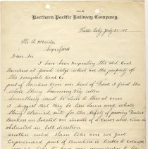 Image of Letter from Unknown to A. Herider. July 31, 1908. - Jim Frederickson Collection
