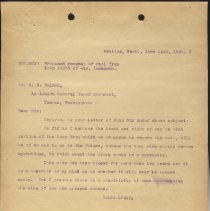 Image of Letter from Superintendent to B.E. Palmer (Assistant General Superintendent). June 11, 1906. - Jim Frederickson Collection