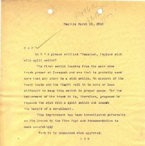 Image of Letter from J.H.R. to C.A.C. March 15, 1916. - Jim Frederickson Collection
