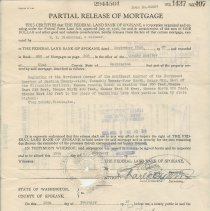 Image of Partial Release of Mortgage -