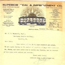 Image of Letter from J.O. Dier to F.E. Weymouth (Superintendent). December 31, 1910. - Jim Frederickson Collection