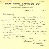 Image of Letter from J. Curtis to G.H. Worley. January 14, 1915. - Jim Frederickson Collection