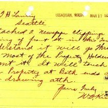Image of Letter from W.O. Kirkes to T.H. Lantry. March 17, 1923. - Jim Frederickson Collection