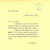 Image of Letter from I.B. Richards to J.E. Craver. November 10, 1914. - Jim Frederickson Collection