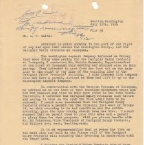Image of Letter from J.J. Meacham to W.C. Smith. July 11, 1955. - Jim Frederickson Collection