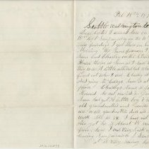 """Image of Letter: George Whitehead to """"Dear Sister"""", Feb. 18, 1876. - Lucy Stevenson Collection"""