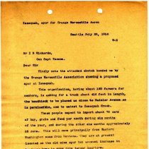 Image of Letter from Superintendent to I.B. Richards (General Superintendent, Tacoma). July 20, 1916. - Jim Frederickson Collection