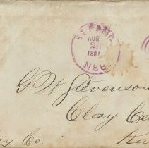 Image of Envelope to George W. Stevenson, Aug. 26, 1881. - Lucy Stevenson Collection