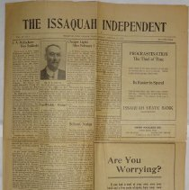 Image of The Issaquah Independent, Vol. XV, No. 4, January 28, 1914. -