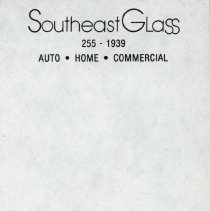 Image of Notesheet from Southeast Glass -