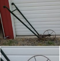 Image of Hand Cultivator Used on the Art Barker Farm at Pine Lake -