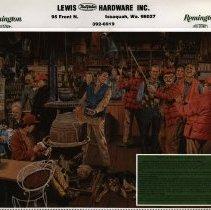 Image of Lewis Hardware Calendar, 1986 -