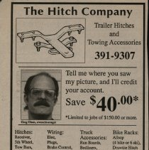 Image of Newspaper Advertisement: The Hitch Company -