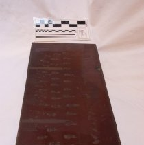 Image of Newspaper printing plate group photograph.
