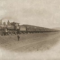 Image of Train and man, Early 1900's.