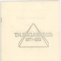 Image of Photocopy of pamphlet on the history of T. M. Sinclair & Co, Ltd.