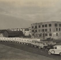 Image of Sinclair Plant with Delivery Trucks, Circa 1920s