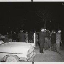 Image of Police at Local P3 Union strike in Cedar Rapids, IA, 1959.