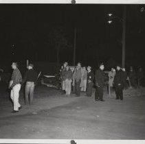 Image of Police at Local P3 Union strike in Cedar Rapids, IA, 1959.