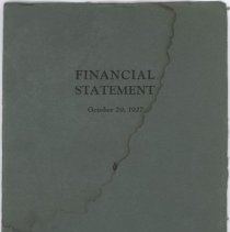 Image of 1927 Wilson & Co. Inc. financial statement booklet.