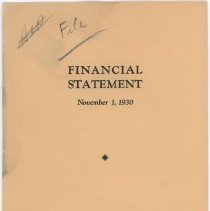 Image of 1930 Wilson & Co. Inc. financial statement booklet.