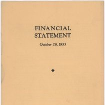Image of 1933 Wilson & Co. Inc. financial statement pamphlet.
