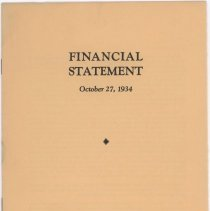 Image of 1934 Wilson & Co. Inc. financial statement pamphlet.