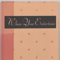 Image of Hardcover volume titled When You Entertain