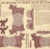 Image of Complete Cut-Out Model of the Wilson Six-Horse Hitch of Clydesdales