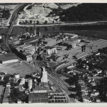 Image of Black and White Aerial Photograph of Wilson Plant 7/4/1957