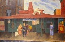 Image of Down Side El Platform, Bleeker Street