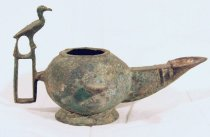 Image of Oil lamp with bird