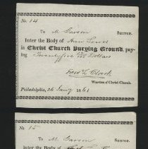 Image of interment orders