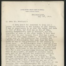 Image of correspondence 1914